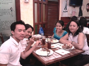 Left - Dudz and Ate Marsh, Right - Mama and Me