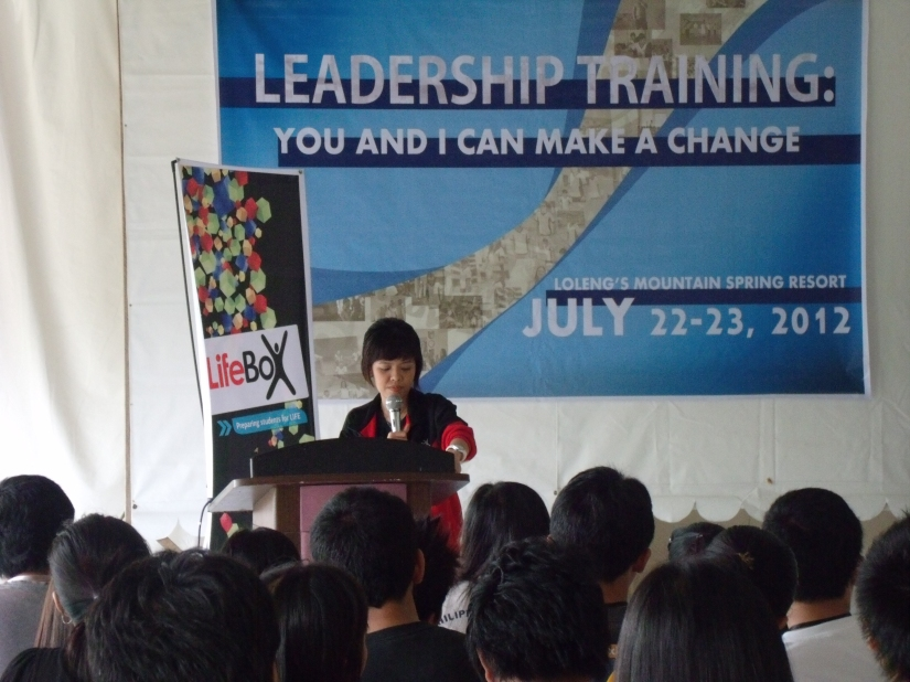 July - This year has been our year for a lot of campus outreaches. This was during the University of Immaculate Conception's Leadership Camp held at Loleng's Mountain Spring Resort.