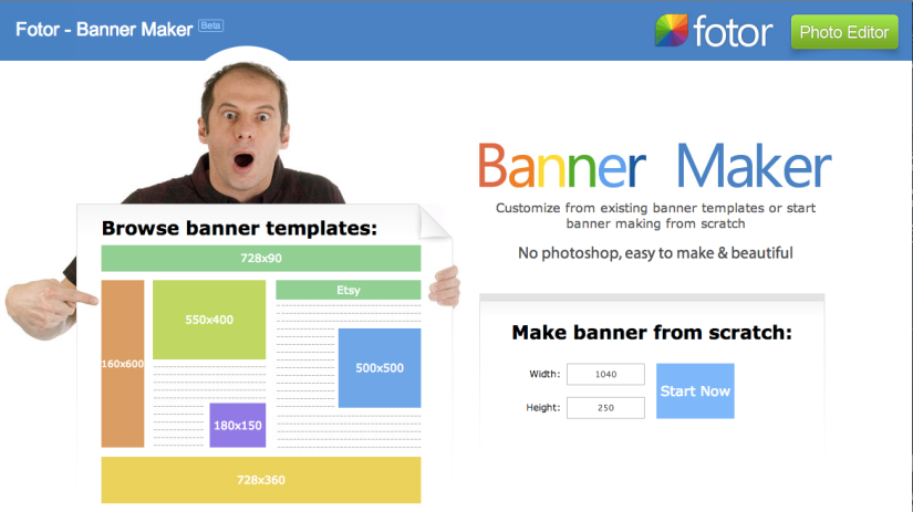 Help #2 is the Fotor Banner Maker.