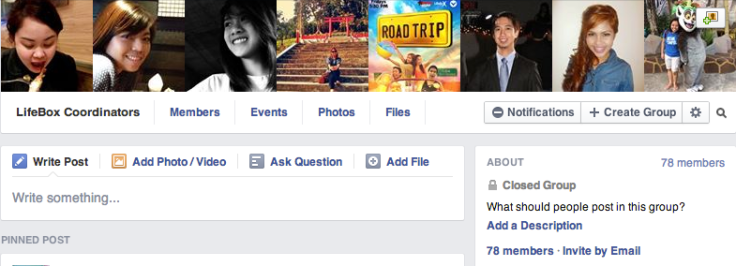 You just have to take a screenshot of one of your most favorite Facebook groups!