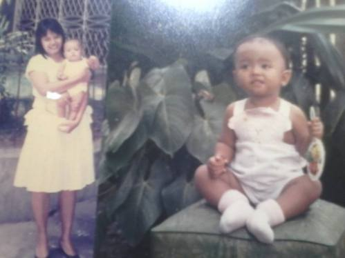 These pictures are proof of how my mom celebrated motherhood despite difficult circumstances then. That photo of her holding me was taken during my christening. :)