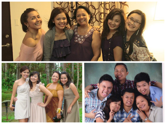 "Here you see how my Mom is part of the ""barkada."" And she's just so game about it! Cool, huh? :)"